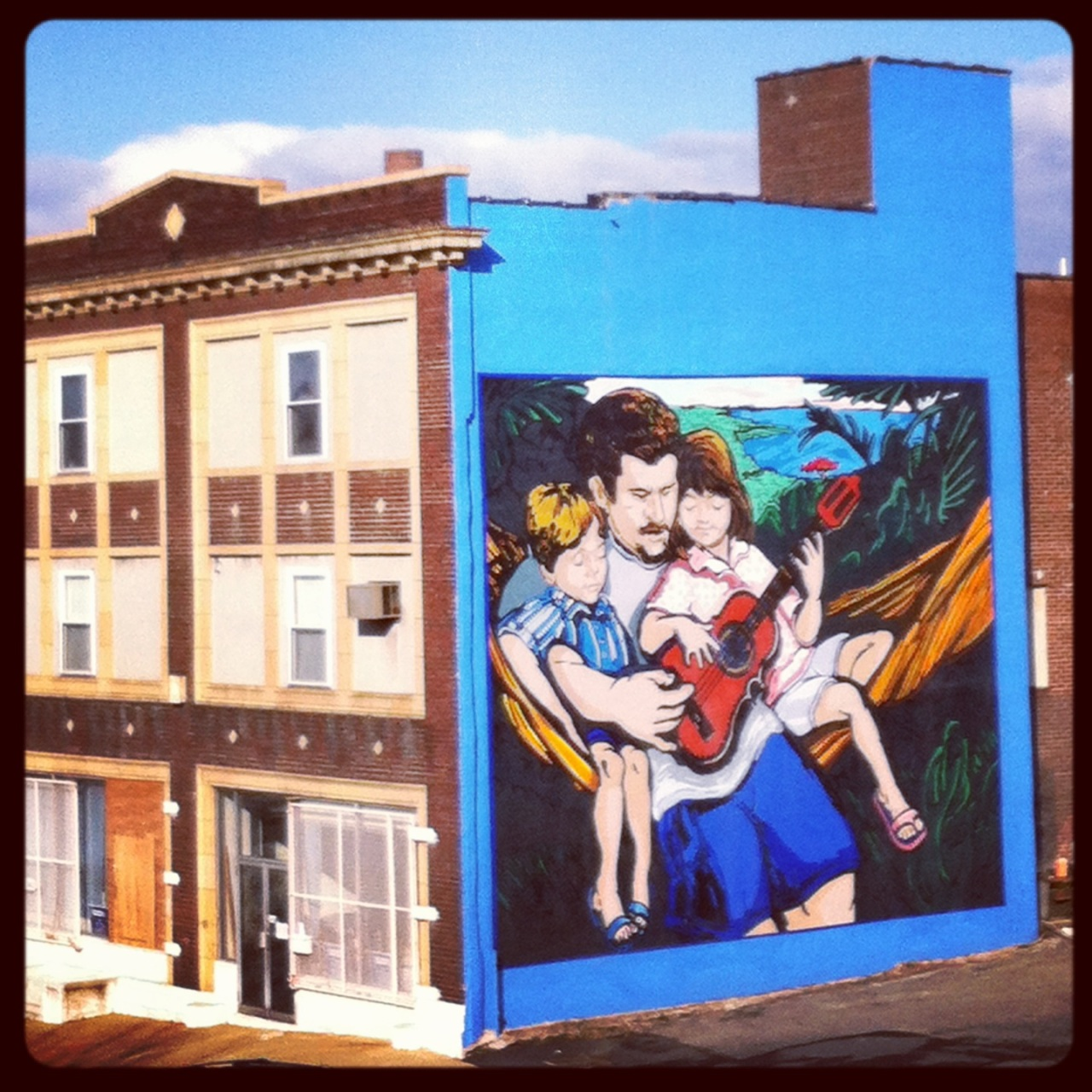 Building-sized mural